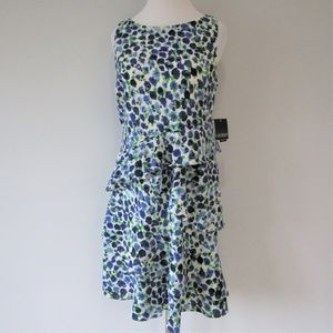NWT Ralph Lauren White Floral Ruffle Midi Dress